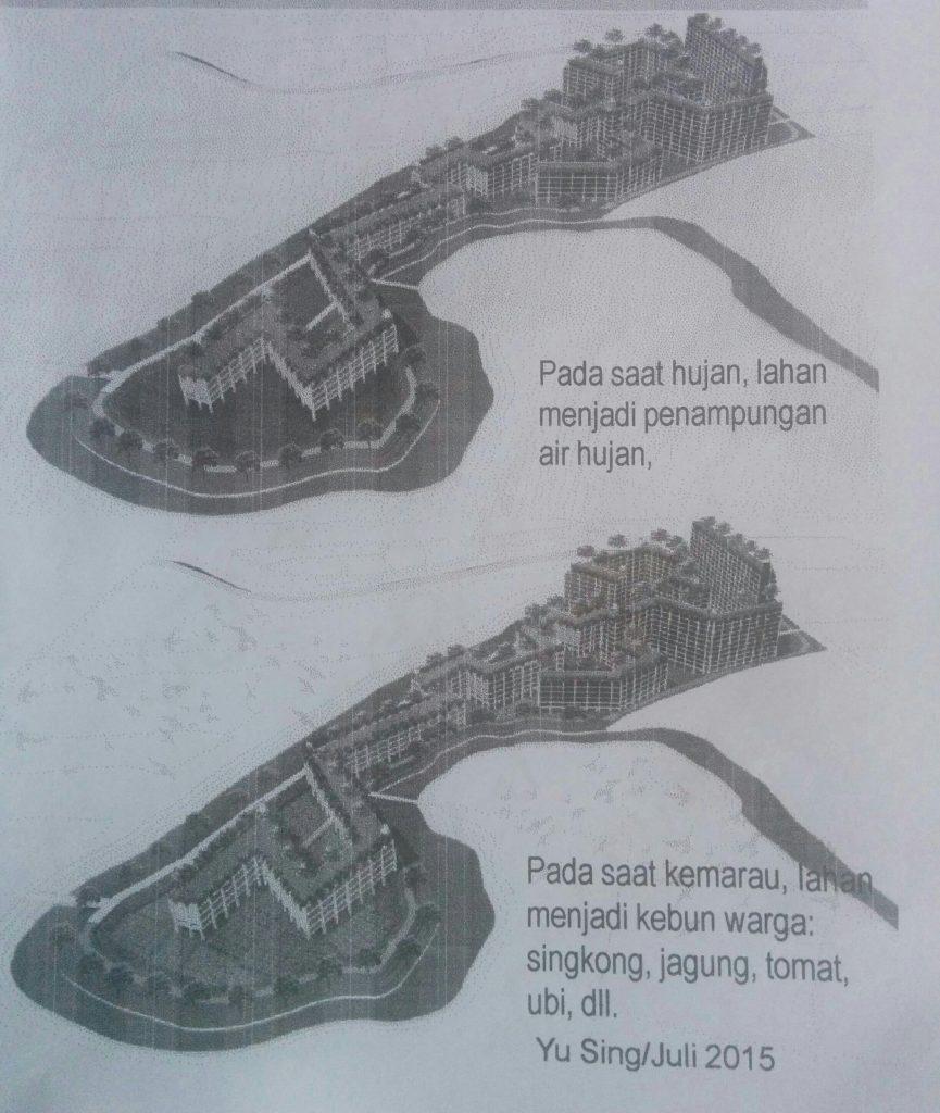 Gambar 4. Konsep kampung susun usulan Ciliwung Merdeka